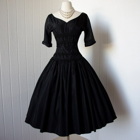 Vintage 1950s Dress Phenomenal Dior Inspired Suzy By