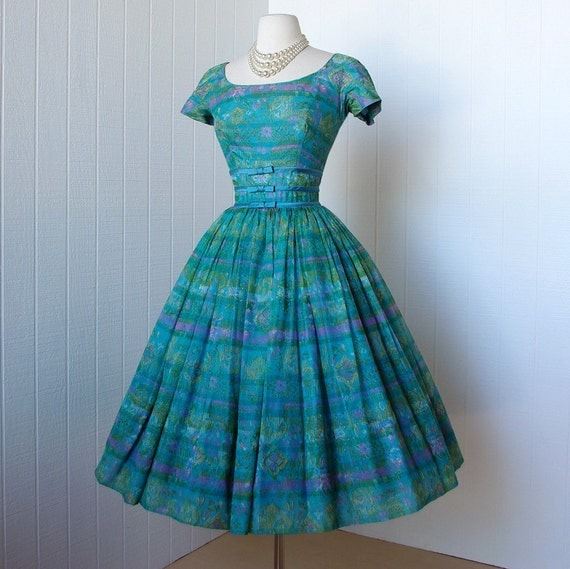 vintage 1950&-39-s dress ...dior inspired GIGI YOUNG new by traven7
