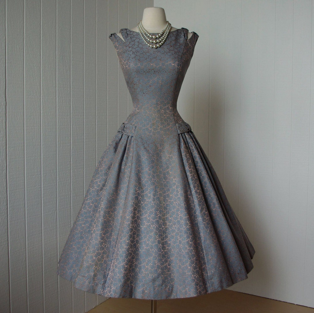 Vintage Wedding Dresses Nyc: Vintage 1950's Dress ...beautiful NATLYNN New York