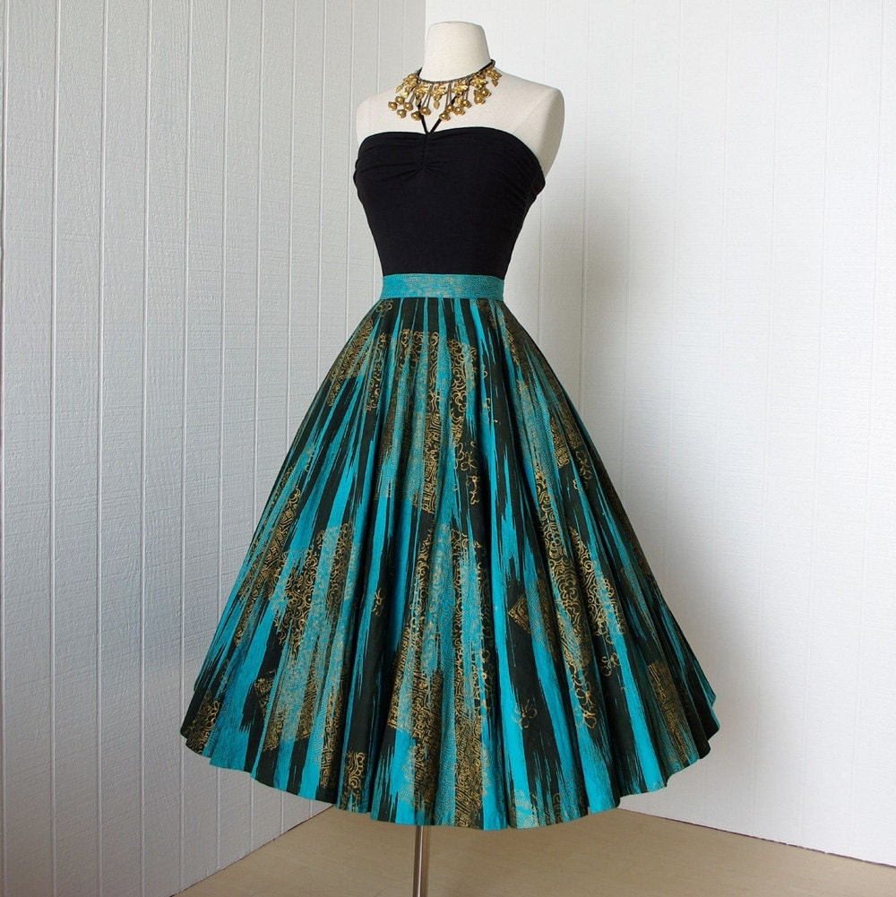 vintage dress outfits vintage 1950 s skirt fabulous maya de mexico original 7233