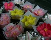 Spring Collection - Assorted Pink and Yellow Royal Icing Sugar Flowers