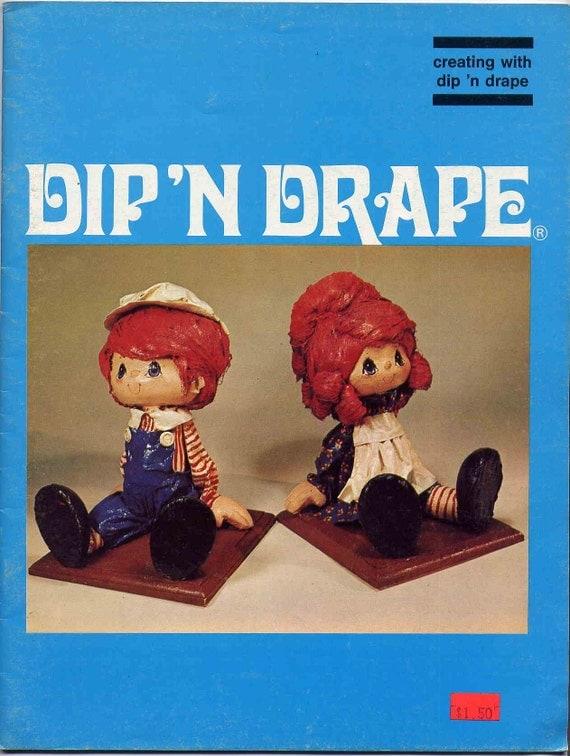 Dip N Drape Doll Making Craft Book Vintage Miniature