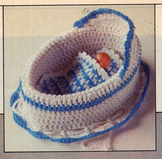 Vintage 1983 Tiny Crochet Doll Bed Blanket and by ...