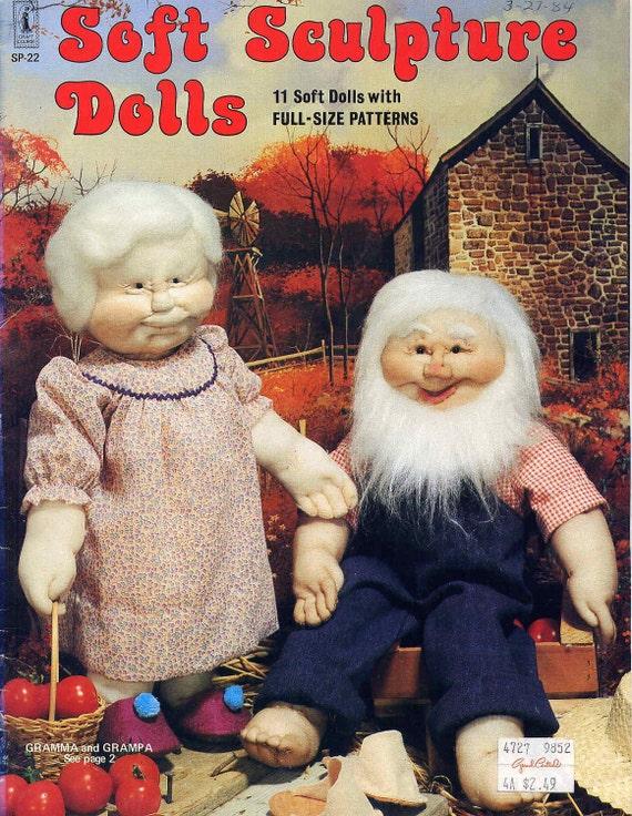 Vintage Sock Doll Sewing Pattern Book Soft Sculpture