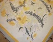 ON SALE Vintage Tablecloth & Napkins Fab Fall Leaves w Hyacinth