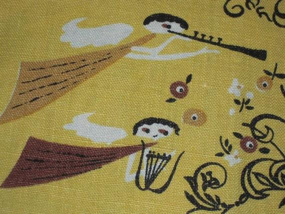 Vintage Pat Prichard Towel Eames Era Angel in the Kitchen