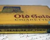 Vintage Tin Old Gold Cigarette Vintage Tin