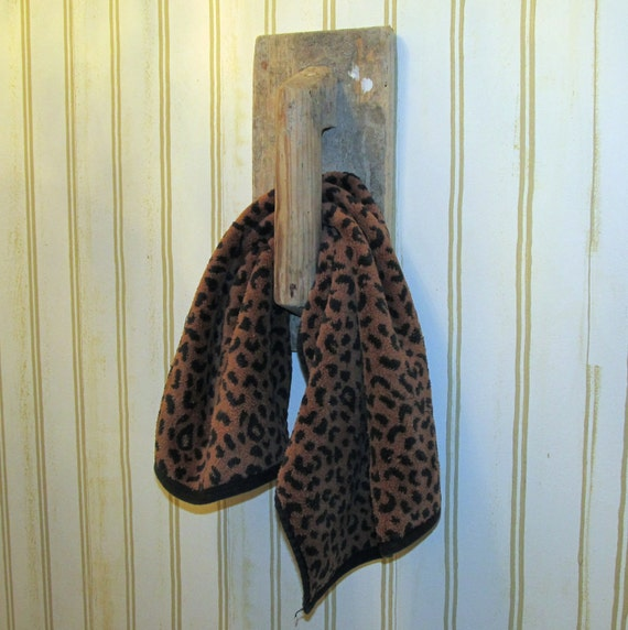 Antique Wooden Trowel Towel Holder
