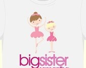 big sister shirt (or little sister)-adorable ballerina tshirt