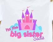 Big Sister shirt- Castle big sister sibling announcement t-shirt