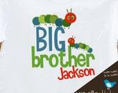 big brother shirt - caterpillar tshirt - colorful caterpillar big brother to be shirt