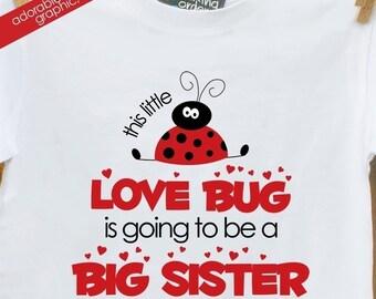 big sister shirt- to be sweet LADYBUG big sister announement t-shirt