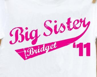 Big Sister shirt- adorable 2011 big sister t-shirt
