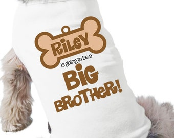 Dog big brother to be shirt- doggie bone dog tshirt perfect for first baby pregnancy announcement and dog lover