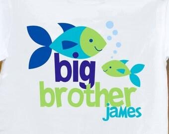 big brother t shirt - funky fish sea ocean life tee