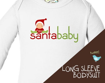 babys first christmas long sleeve bodysuit for baby boy or baby girl adorable for all the Christmas festivities