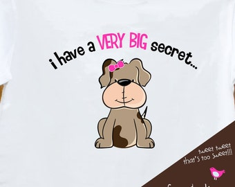 Big sister to be puppy dog pregnancy announcement t-shirt