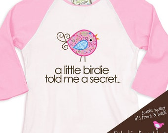 big sister shirt  - big sister to be pregnancy announcement shirt  RAGLAN sleeve WHIMSY BIRD