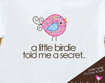 Big sister shirt - whimsy bird secret surprise pregnancy announcement big sister to be shirt