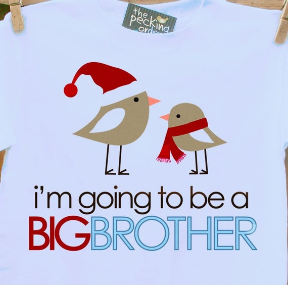 I'm going to be a Big Brother birdie holiday- blue adorable big brother pregnancy announcement