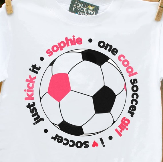 Soccer shirt cool girl - personalized and perfect for the soccer girl in the family
