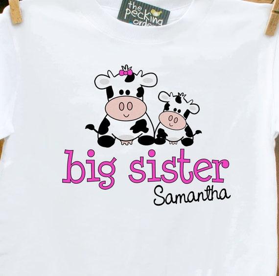 Big Sister shirt- adorable cow perfect pregnancy announcement