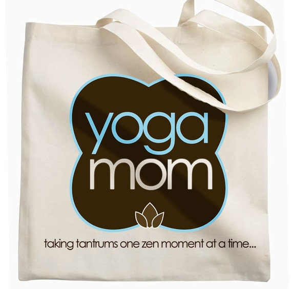 yoga mom tote bag great shopping bag or to throw your stuff in for yoga class