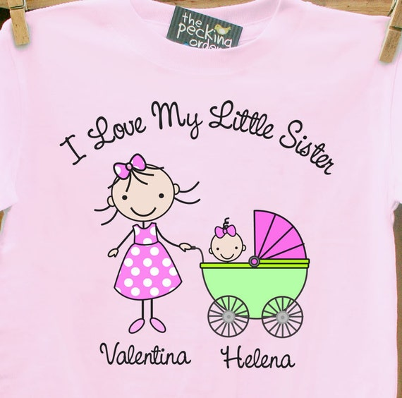 Big Sister shirt  I Love my little sister t-shirt-so adorable for the new big sister