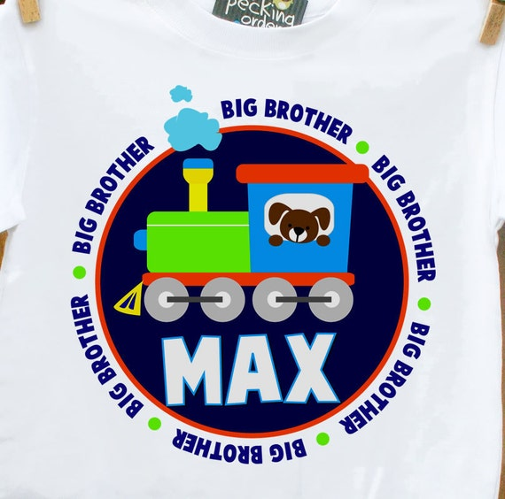 big brother shirt train and puppy perfect pregnancy announcement for the big brother to be