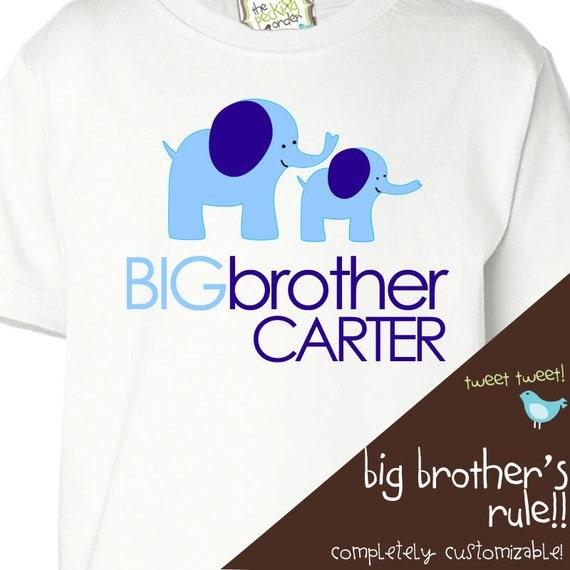 Big brother shirt- mod elephant big brother t-shirt