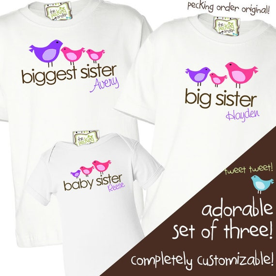Matching Sibling Shirts-big middle little sisters or by ...