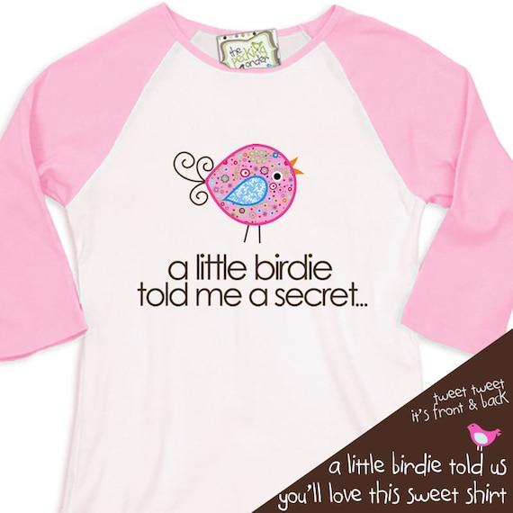 big sister shirt  - big sister to be pregnancy announcement shirt  RAGLAN sleeve WHIMSY BIRD