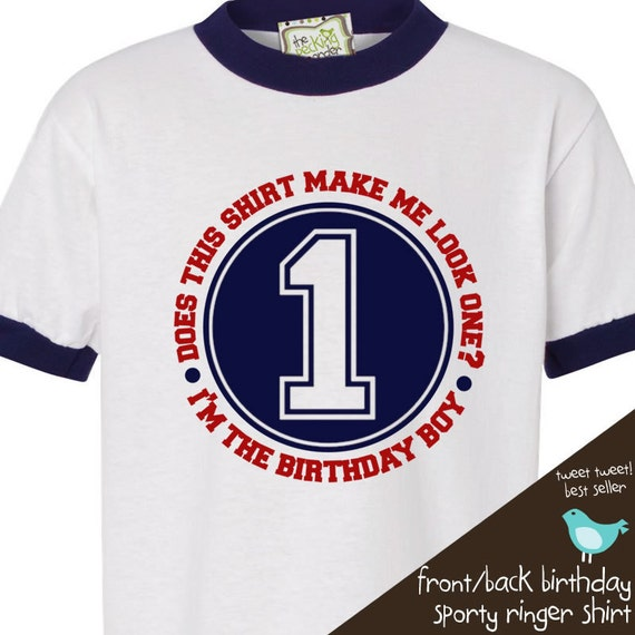 Birthday Boy shirt - perfect for the baseball, sports themed birthday party RINGER style