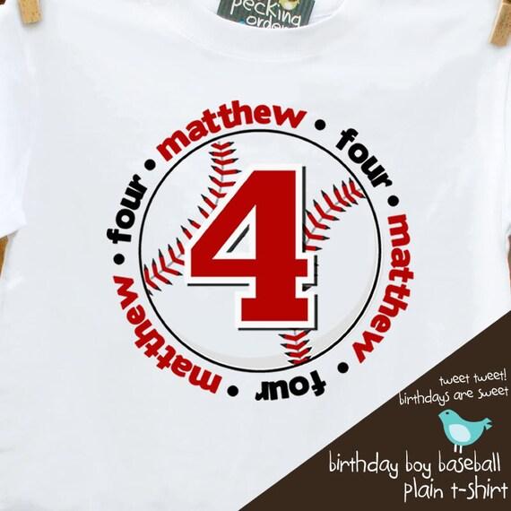 birthday boy tshirt baseball birthday party personalized birthday shirt PLAIN tshirt
