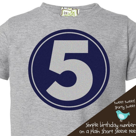 birthday t shirt - simple circle birthday shirt for the birthday boy or birthday girl