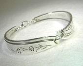 1957 SPRINGTIME Silver Spoon Bracelet - Vintage Silverware Jewelry