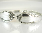 Spoon Bracelet, Spoon Jewelry, Silverware Bracelet - 1948 Remembrance