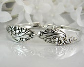 Spoon Bracelet, FREE Engraving, Spoon Jewelry, Silverware Bracelet - 1950 EVENING STAR