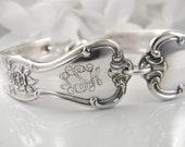 Monogram Bracelet, FREE ENGRAVING, Spoon Bracelet, Monogram Gift, Monogram Jewelry, Personalized Bracelet, Silverware Bracelet