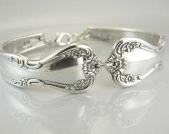 Spoon Bracelet, Spoon Jewelry, Silverware Bracelet - '52 Elegant Lady