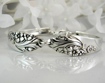 Spoon Bracelet, FREE Engraving, Spoon Jewelry, Silverware Bracelet - 1950 EVENING STAR