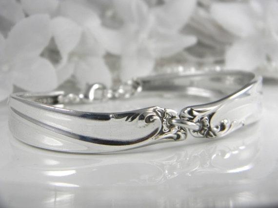 Spoon Bracelet, Spoon Jewelry, Silverware Bracelet, Silverware Jewelry, Bridesmaids Bracelet, Victorian Wedding - 1961 Gaiety