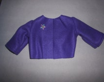 American Girl Purple Fleece Jacket Coat fits Gotz Doll 18 to 20 inch doll Clothes HandMade