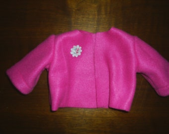 Pink Fleece Jacket fits American Girl Coat fits Gotz Doll 18 to 20 inch doll Clothes HandMade