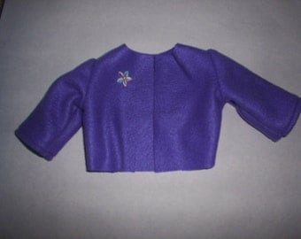 Purple Fleece Coat Jacket fits A G Dolls fits Gotz Doll 18 to 20 inch doll Clothes HandMade