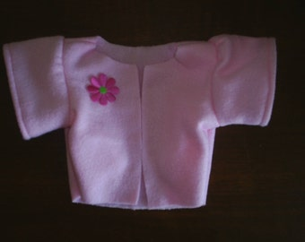 Light Pink Fleece Coat Jacket that fits Build a Bear Hello Kitty HandMade