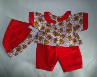 BaseBall Pajamas Set 3 piece fits H K fits BaB HandMade Bear Clothes