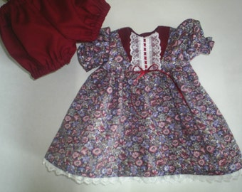 Doll Dress and Panties fits American Girl Doll fits Gotz dolls Clothes HandMade