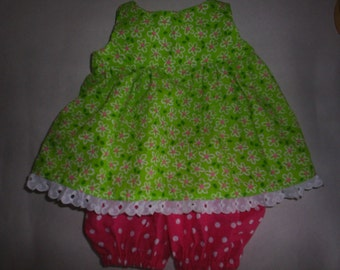 Spring Daisy Dress and Bloomers fits BaB fits H K HandMade Bear Clothes