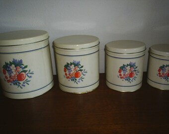 Vintage Canister Set of 4 tins